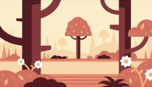 Draw a Forest Landscape Flat Design in Illustrator