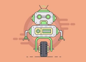 Draw a Robot Character Flat Design in Illustrator