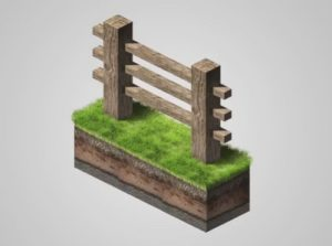 Make a Isometric Wood Fence in Adobe Photoshop