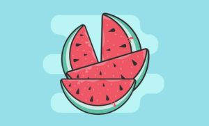 Draw a Cartoon Watermelon Icon in Illustrator