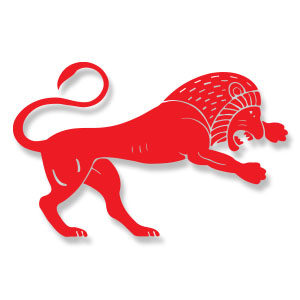 Stylized Lion Free Vector download
