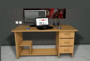 Modelling a Simple Desk in Cinema 4D