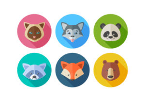Draw a Vector Set of Flat Animal Icons in Illustrator