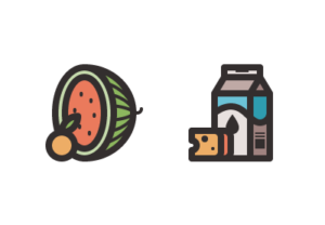 Draw a Vector Food Groups Icon Pack in Illustrator