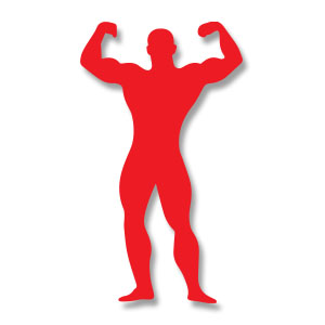 Body Building Silhouette Free Vector