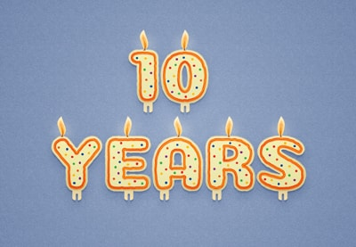 Draw a Vector Celebration Candles Text in Illustrator