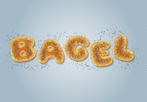 Draw a Tasty Bagel Text Effect in Illustrator