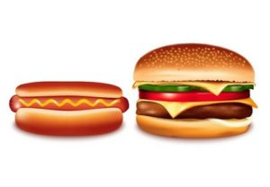 Draw a Hamburger and a Hot Dog in Illustrator