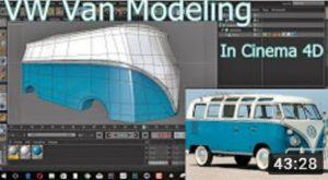 Modeling a Vintage Volkswagen Van in Cinema 4D