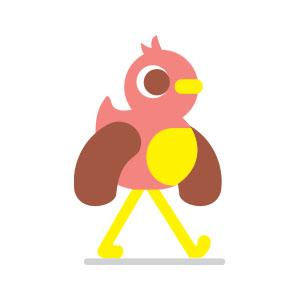 Simple Cute Bird Free Vector download