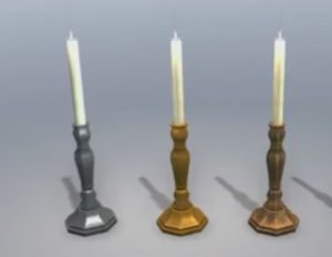 Modeling a Candle and Stand in 3ds Max