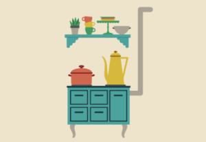 Draw a Vector Flat Retro Kitchen in Adobe Illustrator