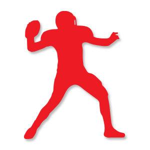Quarterback Silhouette Free Vector