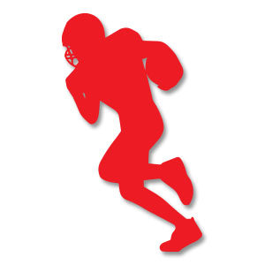 Football Quarterback Silhouette Free Vector