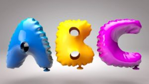 Modeling a Balloons Text in Cinema 4D
