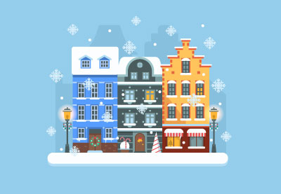 Draw a Winter City Scene in Adobe Illustrator