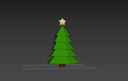 Modeling Low Poly Christmas Tree in 3ds Max