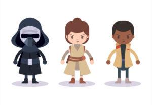 Draw Three Star Wars Characters in Illustrator