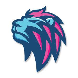 Blue Lion Logo Free Vector