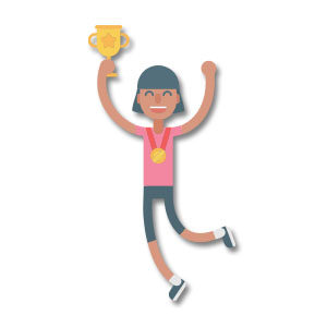 Celebration Sporty Character Free Vector