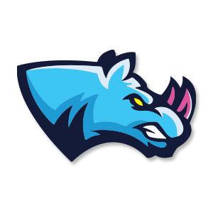 Rhino Head Sport Logo Vector