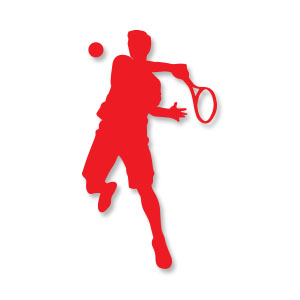 Tennis Man Silhouette Free download