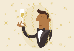 Draw a Champagne Celebration in Adobe Illustrator