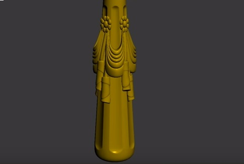 Modeling Ornamental Column with Drapery in 3ds Max