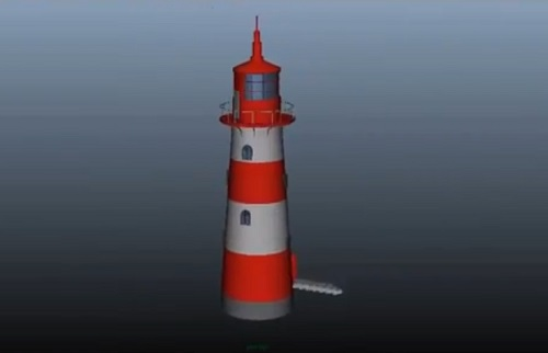 Modeling a Lighthouse Tower in Autodesk Maya