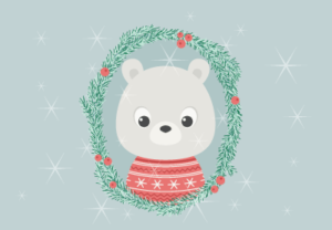 Draw a Cartoon Polar Bear Portrait in Illustrator