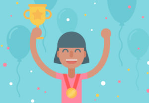 Draw a Vector Celebrating Sporty Character in Illustrator