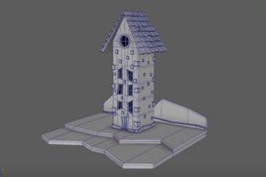 Modeling a Cartoon House 3D in Autodesk Maya 2018