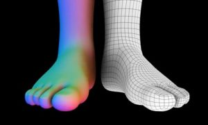 Easy Foot Modeling in Autodesk Maya