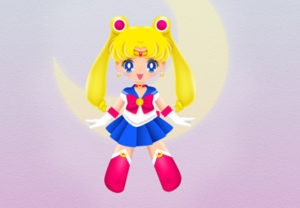 Draw a Vector Sailor Moon in Adobe Illustrator