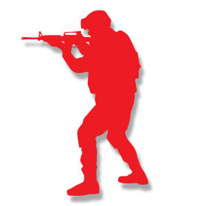Soldier Silhouette Free Vector