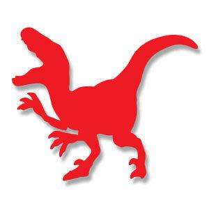 Velociraptor Silhouette Free vector