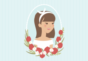 Draw a Vintage Spring Portrait Illustrator