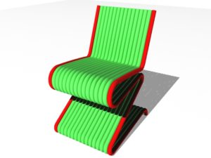 Stylized Chair Line 3D Free