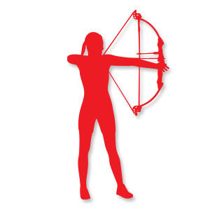 Archery Girl Silhouette Free Vector