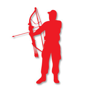 Archery Man Silhouette Vector