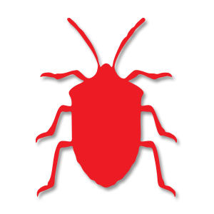 Bed Bug Silhouette Free Vector