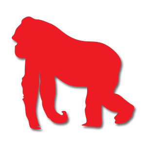 Gorilla Silhouette Free Vector download