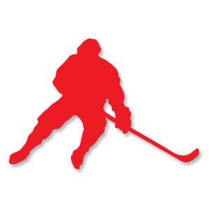Hockey Player Silhouette Vector