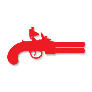 Old Pistol Wapon Silhouette Free Vector