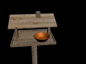 Modeling Wooded Birds Feeder in 3ds Max