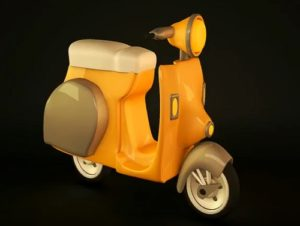 Modeling a Simple Scooter in Cinema 4D