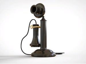 Model a 1930's Candlestick Phone in Maya