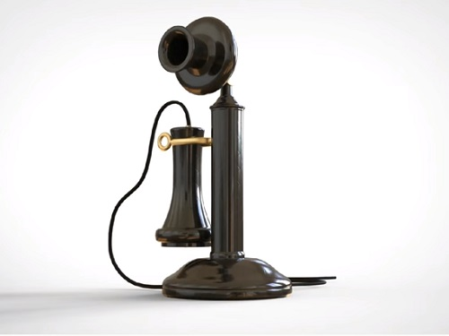 Model a 1930's Candlestick Phone in Maya