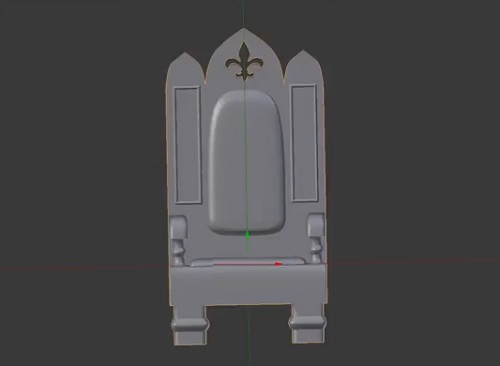 Modeling a Simple Throne Mini in Blender