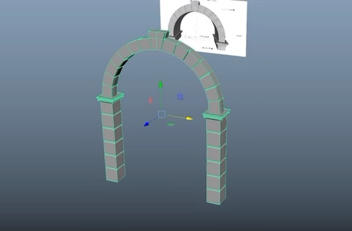 Modeling a Stone Arch in Autodesk Maya 2018